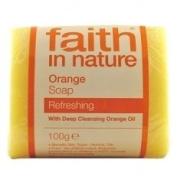Faith In Nature Pure Vegetable Soap. Orange. 100g Bar