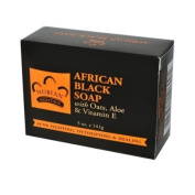 Nubian Soap African Black Soap With Oats, Aloe & Vitamin E 140g