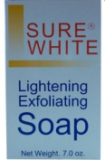 Sure White Skin Lightening Whitening & Exfoliating Soap 200g for Even Skin tone , Hyper-pigmentation, uneven skin tone + dark age spots