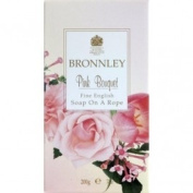 Bronnley Almond Oil range soap on a rope pink bouquet 200g