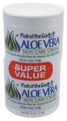 Fruit of the Earth Aloe Vera Crm 120 ml + 120 ml Jars