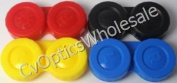 Contact Lens Soaking Storage Cases UK Made x 4 - Red, Yellow, Blue and Black