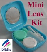 Blue Mini Contact Lens Travel Kit Case - Pocket Size -