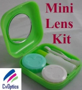 Green Mini Contact Lens Travel Kit Case - Pocket Size -