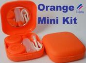 Orange Mini Contact Lens Travel Kit Case - Pocket Size -