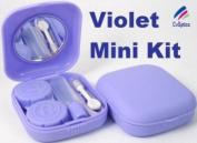 Violet Mini Contact Lens Travel Kit Case - Pocket Size -