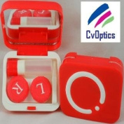 Smart Red Design Contact Lens Travel Kit Soaking Case