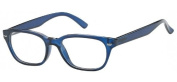 Sunoptic R21A Strength +1.50 Reading Glasses with Pouch Transparent Blue
