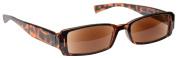 Sun Readers Reading Glasses Sunglasses Womens Mens Unisex UV400 Protection Brown Tortoiseshell UV Reader UVSR003 Inc Case Strength +1.00