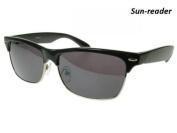 GL2060SBLK +1.0 Vegas Black Sun Readers Reading Glasses