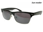 GL2060SBLK +2.5 Vegas Black Sun Readers Reading Glasses
