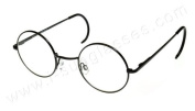 i*sunglasses.com Round John Lennon Reading Glasses, Curly Cable Black/Clear ML, +1.00