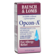 Bausch & Lomb Opcon A Itching & Redness, Allergy Relief Eye Drops - 0.5 Fl Oz