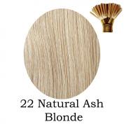 20'' Pre-Bonded Stick Tip Indian Remy Grade A 0.9g #22NAB - Natrual Ash Blonde