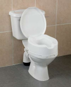 "Raised Toilet Seat 10cm/4"" With Lid"