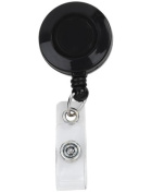 Retractable Badge Holder Cord Extends To 60cm In Black