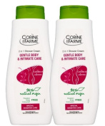 Corine De Farme Natural Intimate Care Gentle Body and Intimate Care 400ml Pack of 2