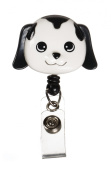 Deluxe Animal Retractable Badge Holder Cord Extends To 60cm Dog Design