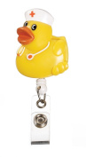 Deluxe Animal Retractable Badge Holder Cord Extends TO 60cm Nurse Duck Design