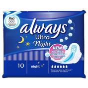 Always Ultra Pads Night 4 x 10 Pads