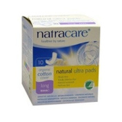 Natracare Ultra Pads Long With Wings 10'S Box