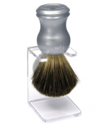Shaving Brush HJM with pure badger - silver grey