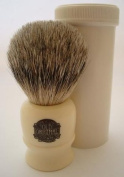 Progress Vulfix 2190 Pure Badger hair travel shaving brush with tube, white