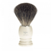 Shaving Brush HJM with pure badger plucked - ivory