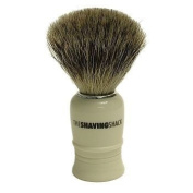 Pure Badger Shaving Brush Faux Ivory Turned Handle