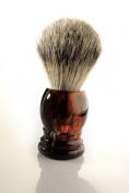 Shaving Brush Faux Tortoise Badger Silvertipp