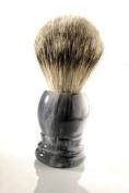 Shaving Brush Grey marble Badger Silvertipp