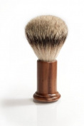 RAZZOOR Shaving Brush COLUMN WALNUT - Badger Silvertip