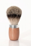 RAZZOOR Shaving Brush Beech wood and Aluminium - Badger Silvertip