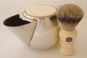 Progress Vulfix 2235 Super Badger shaving brush & pewter shaving mug