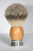 Shaving Brush Olivewood/Aluminium with Badger Silvertip