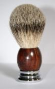 Shaving Brush Rosewood/Chrom with Badger Silvertip