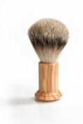 RAZZOOR Shaving Brush COLUMN OLIVE WOOD - Badger Silvertip