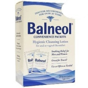Balneol Hygienic Cleansing Lotion for Scrotal or Vaginal Itching, Convenience packets - 20 Ea