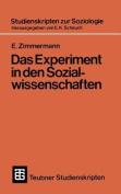 Das Experiment in Den Sozialwissenschaften