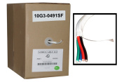 Cable Wholesale 14/4 (14AWG 4C) 105 Strand/0.16mm Speaker Cable, CM / Inwall Rated, Oxygen-Free, White, 150m, Pullbox