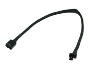 30cm PWM 4 pin extension cable with Black Sleeving # FC44PWM-12BKS