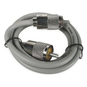 ASTATIC 0.9m RG8X Cable with PL259 Connectors Grey (A8X3) 302-10268