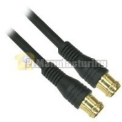 1.8m Snap-On RG-59 F-Type Male to Male Cable with Gold Contact