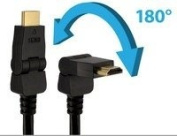 Sewell 1.8m HDMI Swivel Cable, High Speed Ethernet, Male to Male