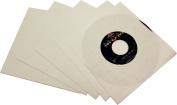 (500) BCW Brand 18cm Record White Paper Inner Sleeves