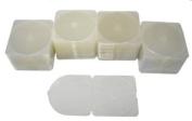 "100 CD Jewel Cases - Trimpak Style - 3.8mm - Single, Clear - 4-7/8"" x 5"" #CDBR38CL"