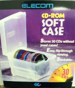 Elecom CD Storage Case-holds 30 CDs W/out Cases