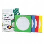 Coloured CD/DVD Paper Sleeves, 50/Box