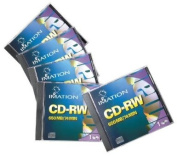 Imation CD-RW With Jewel Cases, 650MB/74 Minutes, 1x-4x, Pack Of 5