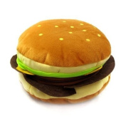 niceEshop(TM) Soft Plush Hamburger Shape CD/DVD Storage Case Bag +Free niceEshop Cable Tie